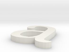 Letter- a in White Natural Versatile Plastic