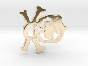Skull Pendant in 14K Yellow Gold