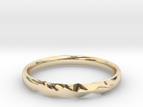 Shadow Ring US Size 6 UK Size M in 14K Yellow Gold