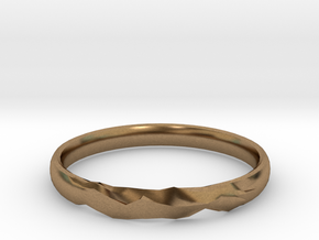 Shadow Ring US Size 6 UK Size M in Natural Brass