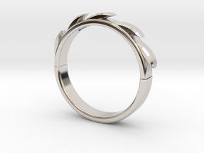 Sun flower Ring in Platinum