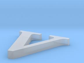 Letter- v in Smooth Fine Detail Plastic
