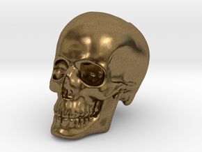 Skull Bead in Natural Bronze