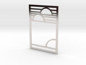 Art Deco Pendant - Yesterday, Today, & Tomorrow in Platinum