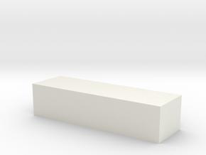 Minus sign - '-' in White Natural Versatile Plastic
