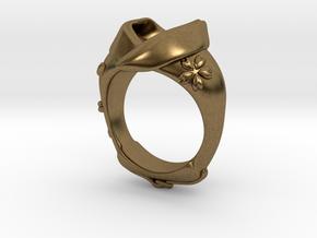 KIMONO RING Frame in Natural Bronze