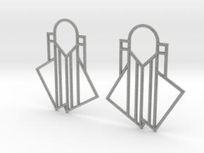 A Little Off-Center Earrings in Metallic Plastic
