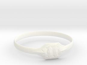 Triss Ring US Size 8 UK Size Q in White Processed Versatile Plastic
