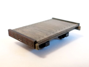 8ft Narrow Gauge Flat Wagon (x3) in Smooth Fine Detail Plastic