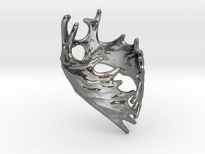 (Size 5) Moose Antler Ring  in Fine Detail Polished Silver