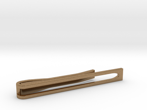Minimalist Tie Bar - Wedge in Natural Brass