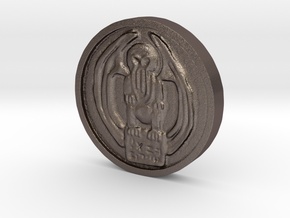 Cthulhu Coin in Polished Bronzed Silver Steel