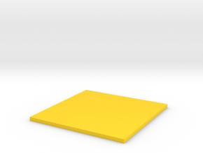 Square in Yellow Processed Versatile Plastic