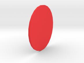 Circle in Red Processed Versatile Plastic
