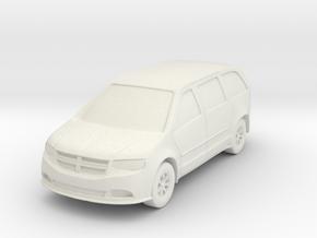"Minivan at 1""=16' Scale in White Natural Versatile Plastic"
