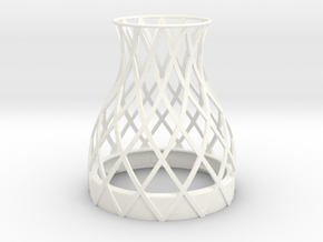 Bell Vase for jar size:70 (4 leads) in White Processed Versatile Plastic