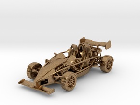 Ariel Atom 1/43 scale LHD w/wings in Natural Brass