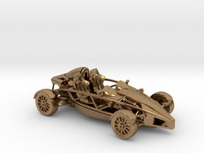 Ariel Atom 1/43 scale RHD no wings in Natural Brass