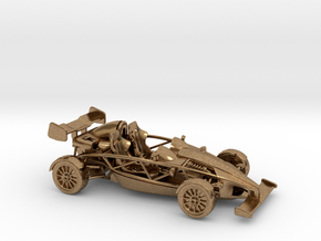 Ariel Atom 1/43 scale RHD w/wings in Natural Brass