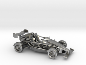 Ariel Atom 1/43 scale RHD w/wings in Natural Silver