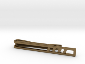 Minimalist Tie Bar - Quad Slash in Natural Bronze