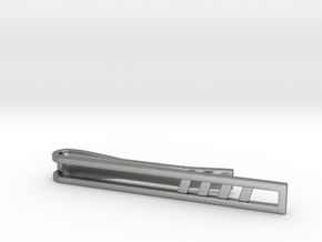 Minimalist Tie Bar - Quad Slash in Natural Silver