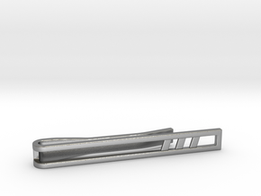 Minimalist Tie Bar - Triple Slash in Natural Silver