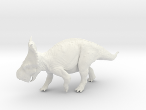 Prancing Pachyrhinosaurus canadensis - 1/72 in White Strong & Flexible