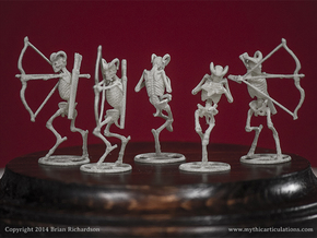 Faun Skeletons 32mm Set in Smooth Fine Detail Plastic