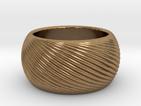 ring ring L in Natural Brass