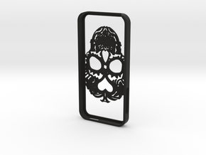 Iphone 5 Hoesje Bjorn Kant 0.80 Skull in Black Strong & Flexible