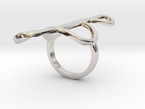 Clef Ring in Platinum