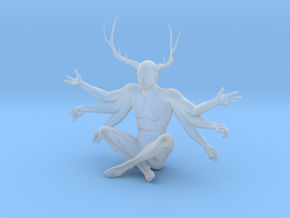 "3"" Six Armed Stag in Smooth Fine Detail Plastic"