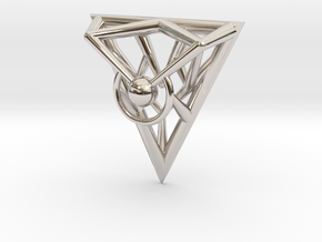 Triangle Line Pendant in Platinum