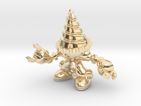 Drill-bot in 14K Yellow Gold