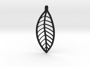 LEAF Necklace in Black Natural Versatile Plastic