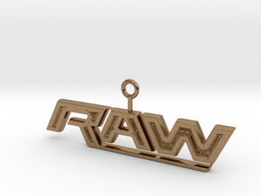 Raw Logo in Natural Brass