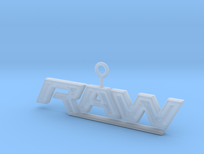Raw Logo in Smooth Fine Detail Plastic