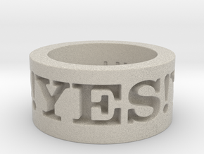 Yes! Ring Design Ring Size 8.5 in Natural Sandstone