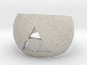 Triforce Cut Out Ring II size 7 in Natural Sandstone