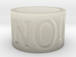 No! No! No! Ring Size 8.5 in Transparent Acrylic