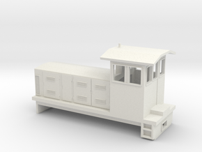 "HOn30 Endcab Locomotive (""Eva"") one p in White Natural Versatile Plastic"