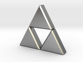 Triforce in Natural Silver