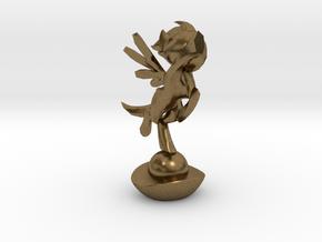 Mini Pone Troph in Natural Bronze