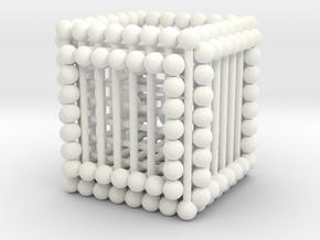 Matsh Cube Balls in White Processed Versatile Plastic