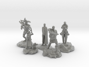 Cleric, Fighter, Rogue, Ranger, and Sorcerer in Metallic Plastic