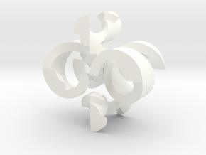 "HELLical Burr (27 moves, 2"" version) in White Processed Versatile Plastic"