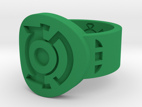 Green & Blue Lantern Hal Jordan Ring in Green Processed Versatile Plastic