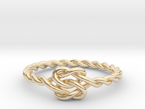 True Lover's Knot Ring in 14K Yellow Gold
