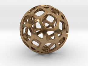 DodecaBall Pendant in Natural Brass